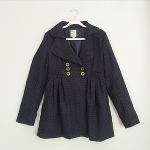 Anthropologie Tulle Polka Dot Peacoat